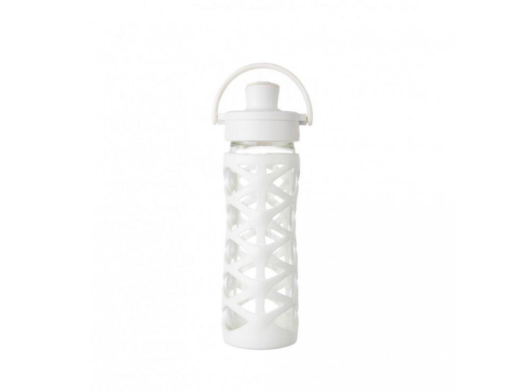 Lifefactory láhev Active Flip Cap 475 ml optic white