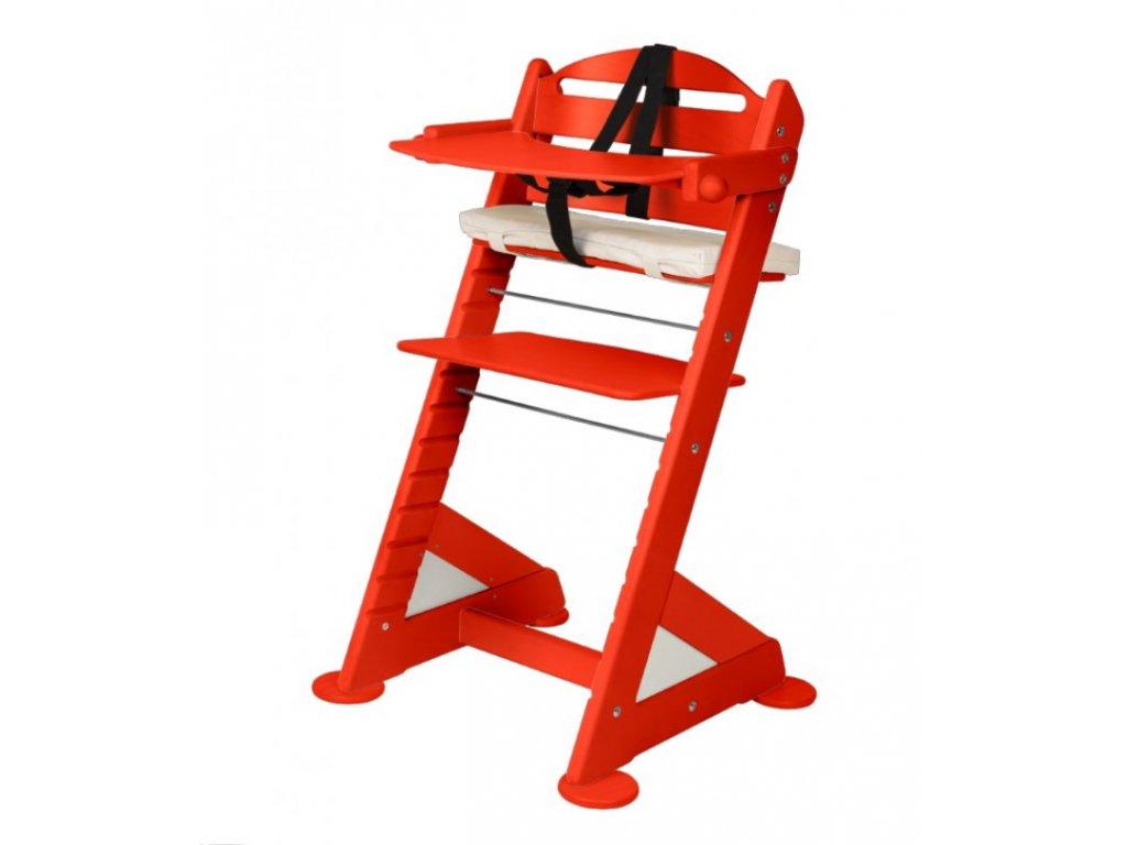 Komplet pultík + stabilizační botičky k židlím Jitro Baby červený