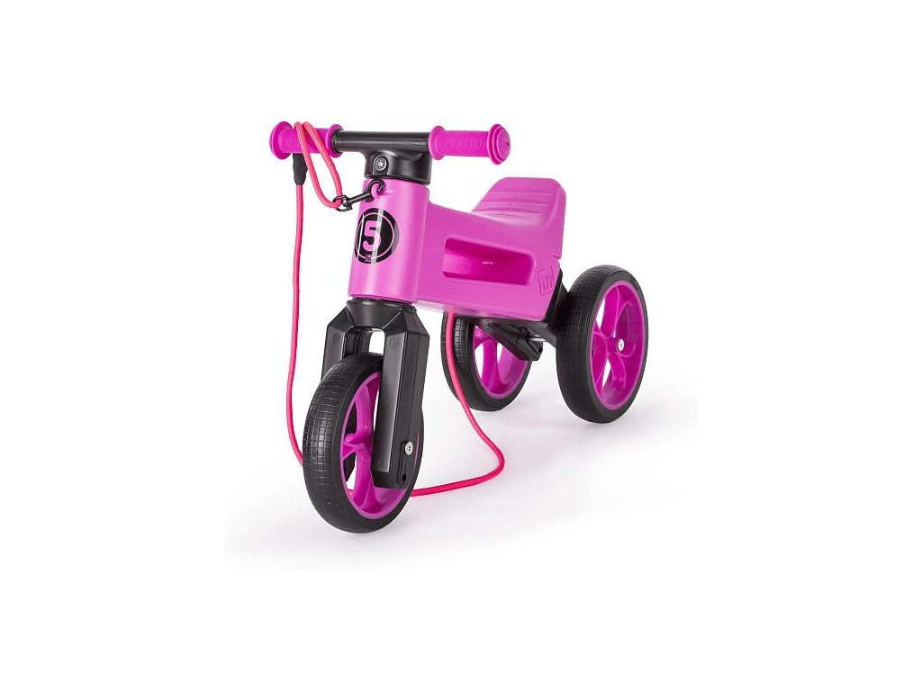 odrazedlo funny wheels rider supersport 2v1 fialove krabice