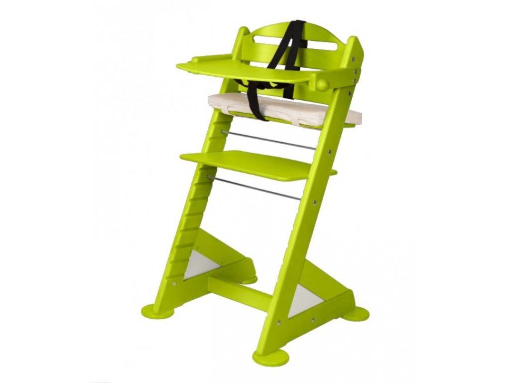 Komplet pultík + stabilizační botičky k židlím Jitro Baby světle zelený