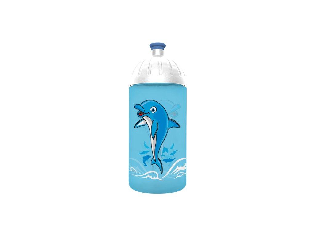 FreeWater lahev 0,5l Delfín tyrkysová