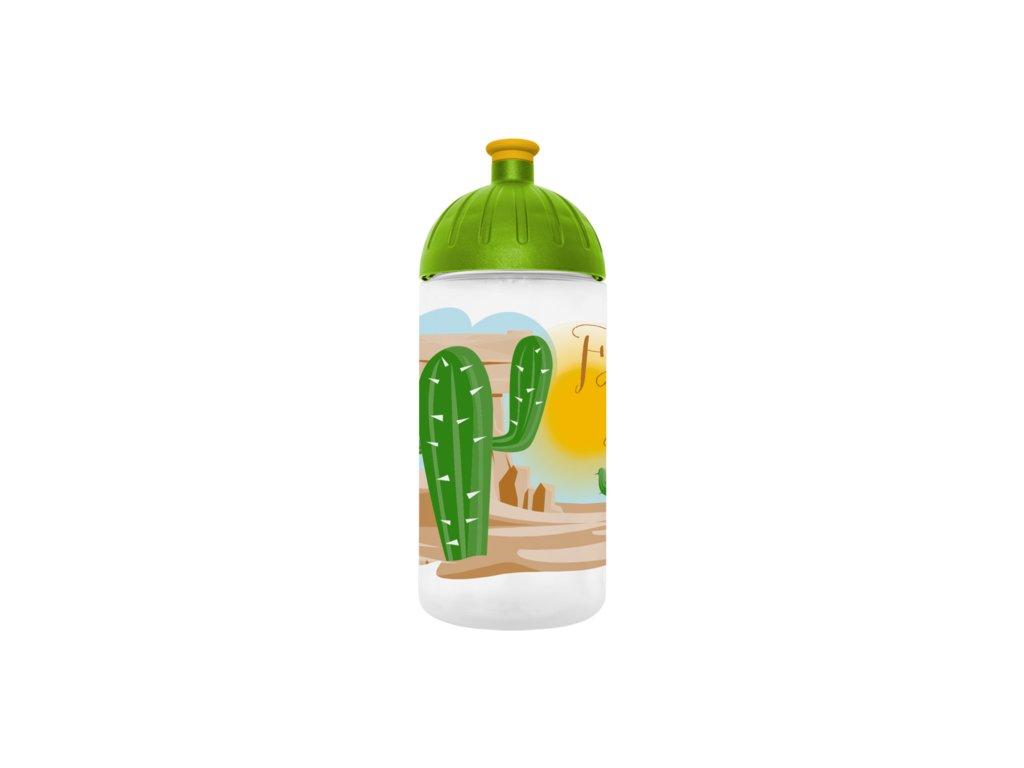 FreeWater lahev 0,5l Kaktus transparentní