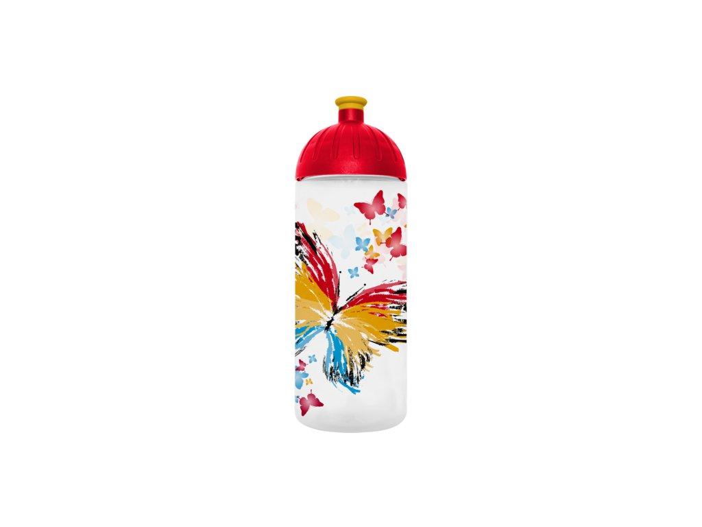 FreeWater lahev 0,7l Motýl transparentní