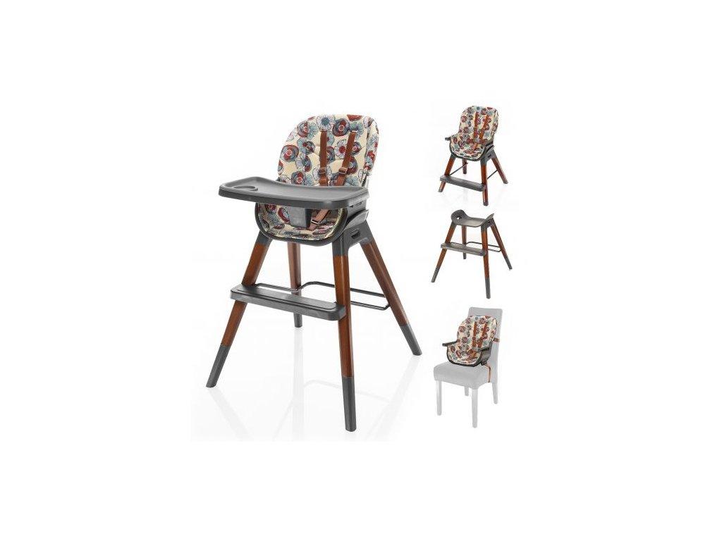 Dětská židlička Nuvio Wild Flowers
