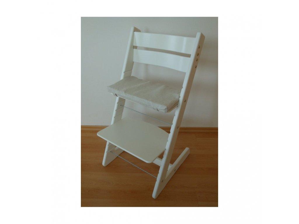 Jitro Klasik rostoucí židle Bílá