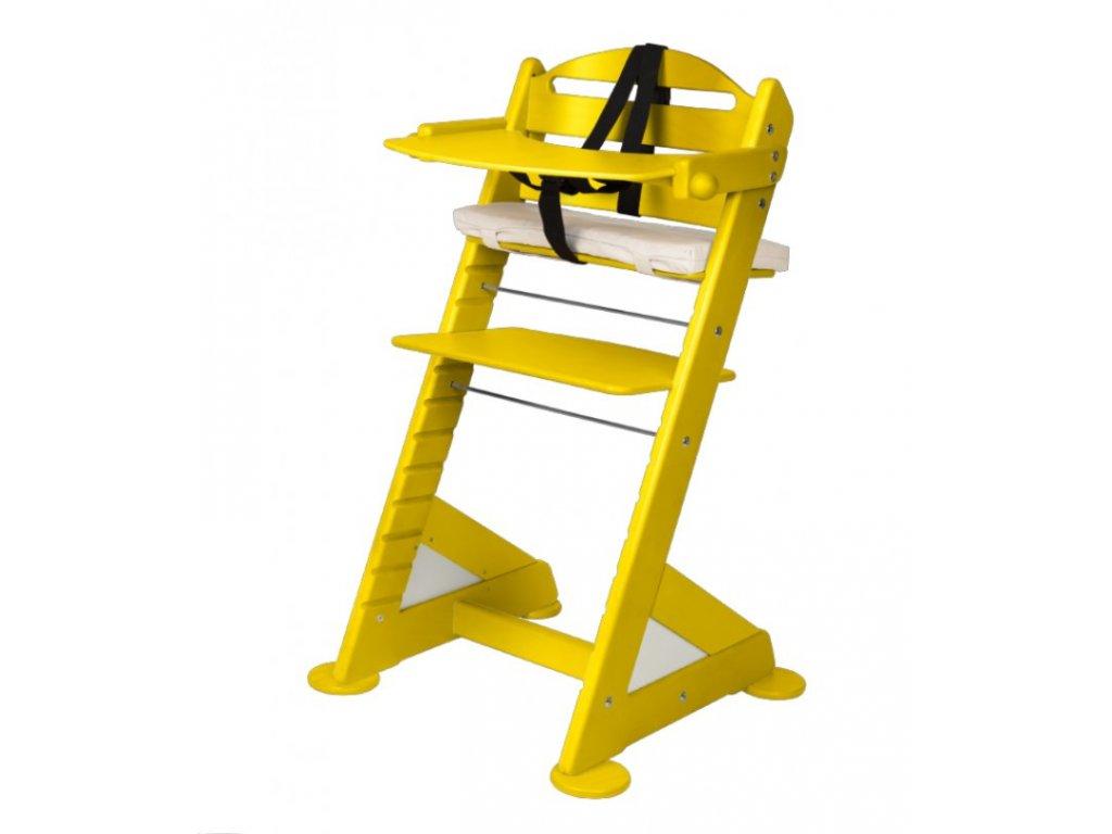 Komplet pultík + stabilizační botičky k židlím Jitro Baby žlutý