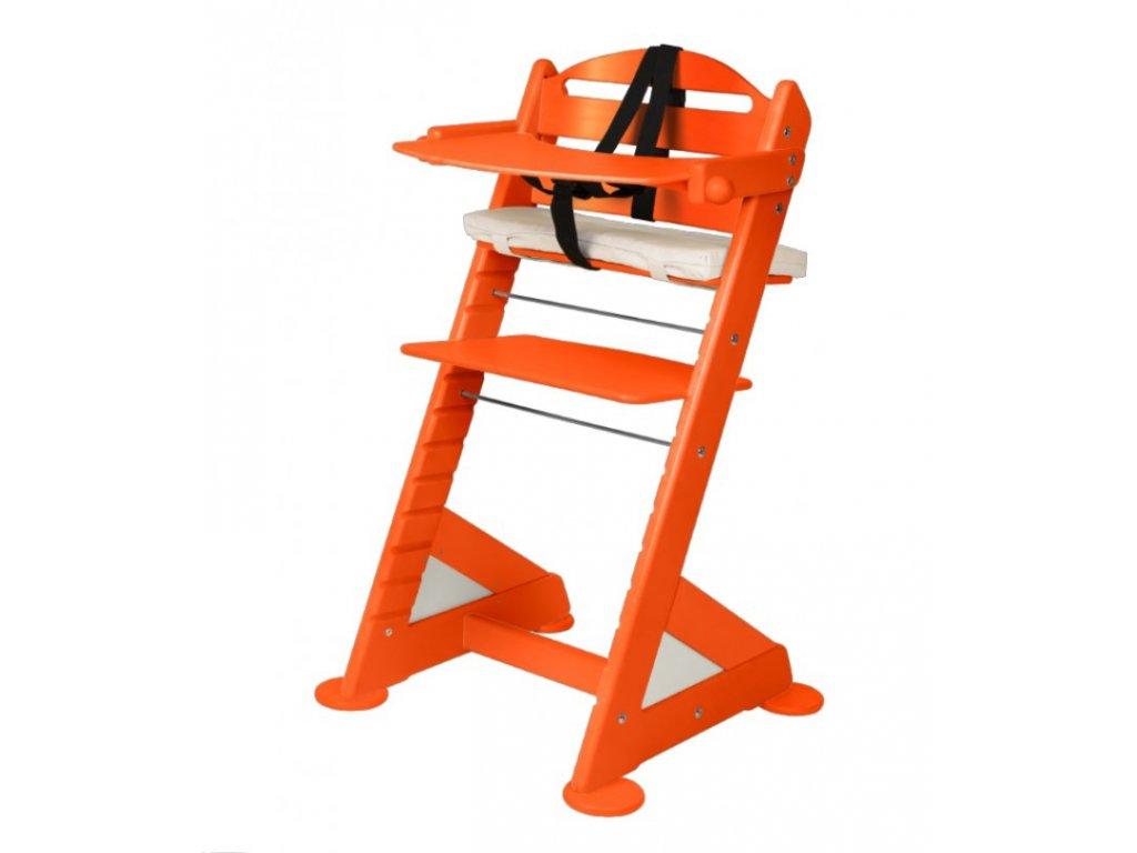 Komplet pultík + stabilizační botičky k židlím Jitro Baby oranžový