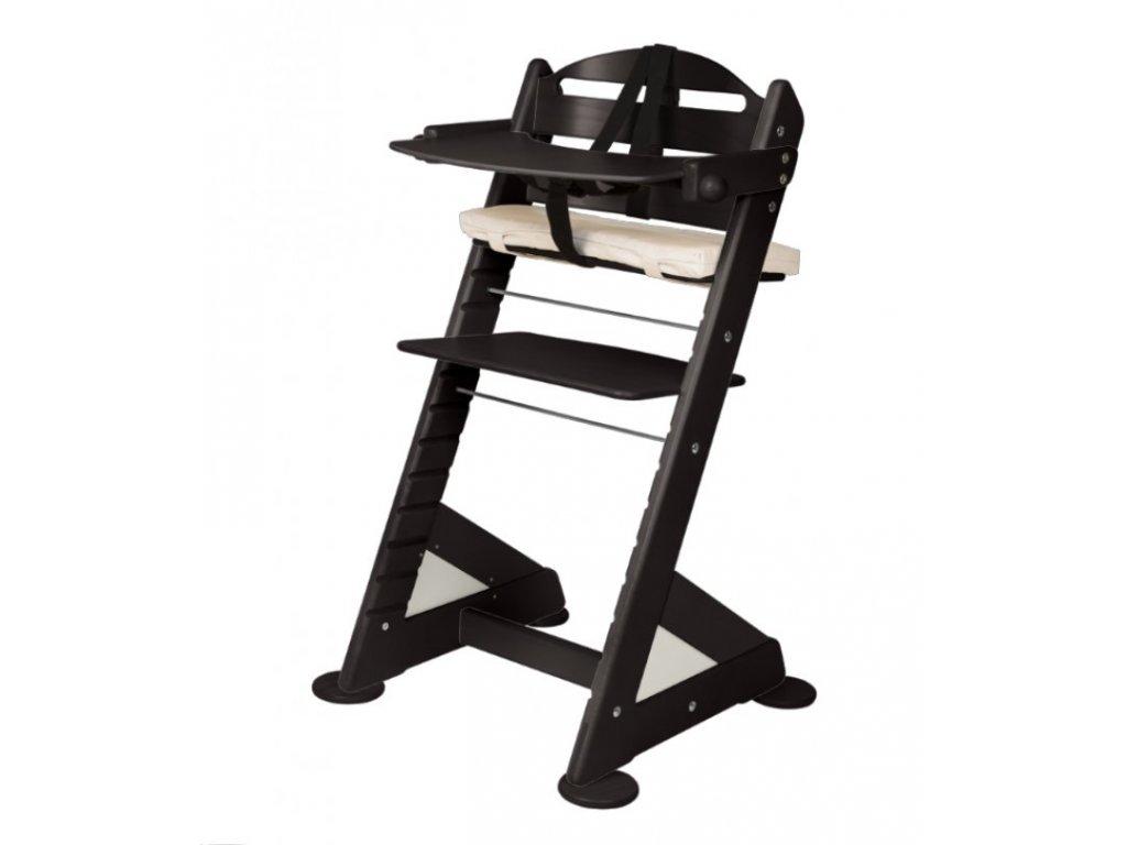 Komplet pultík + stabilizační botičky k židlím Jitro Baby černý