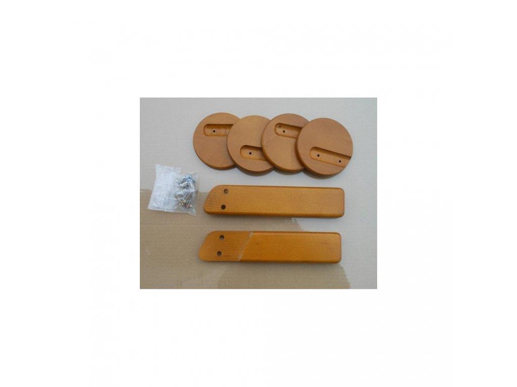 Jitro Komplet područky + stabilizační botičky k židlím Jitro  dub