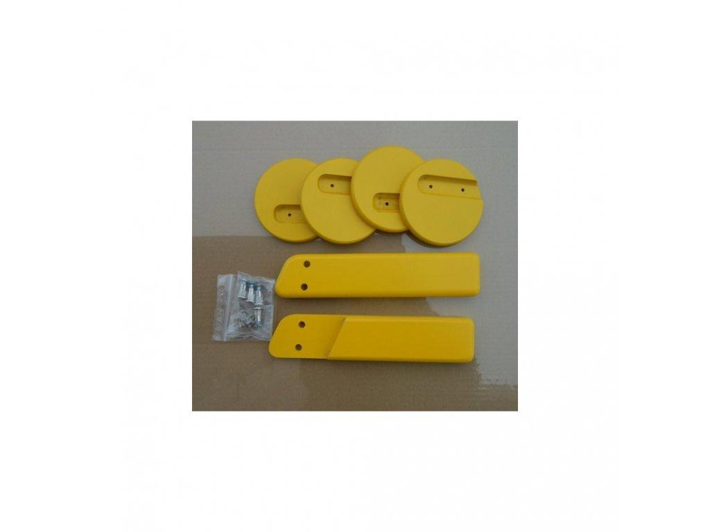 Jitro Komplet područky + stabilizační botičky k židlím Jitro Klasik žlutá