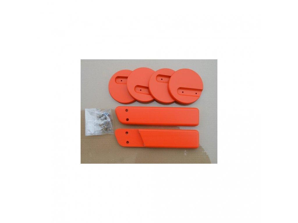 Jitro Komplet područky + stabilizační botičky k židlím Jitro  oranžová