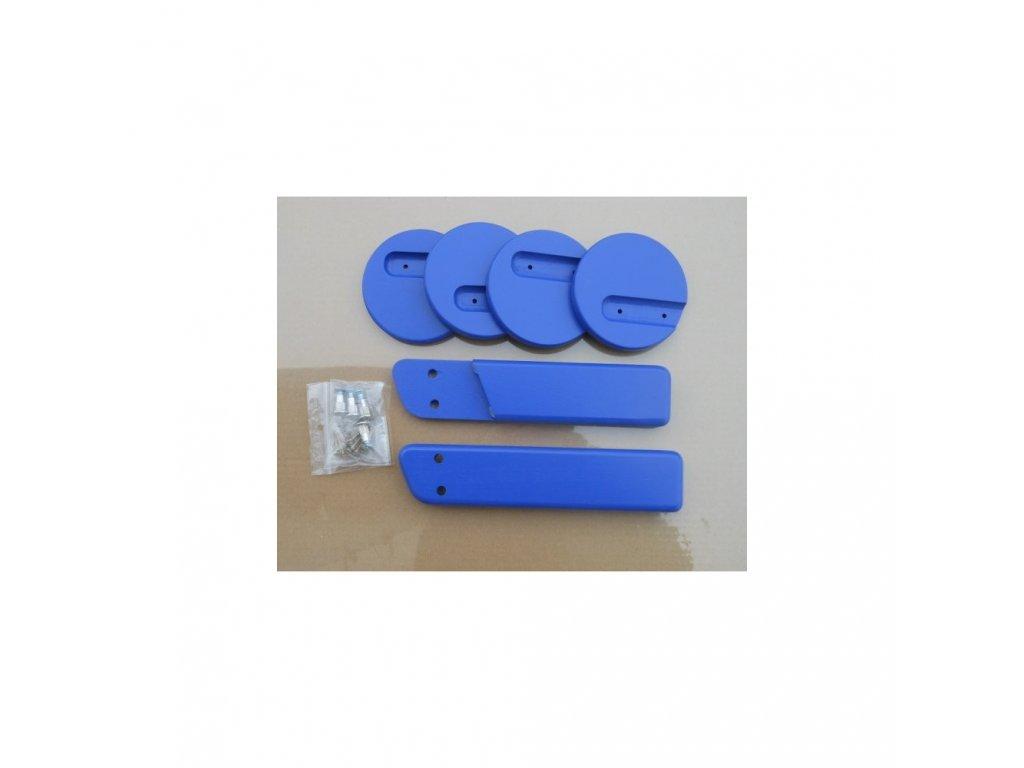 Jitro Komplet područky + stabilizační botičky k židlím Jitro Klasik modrá