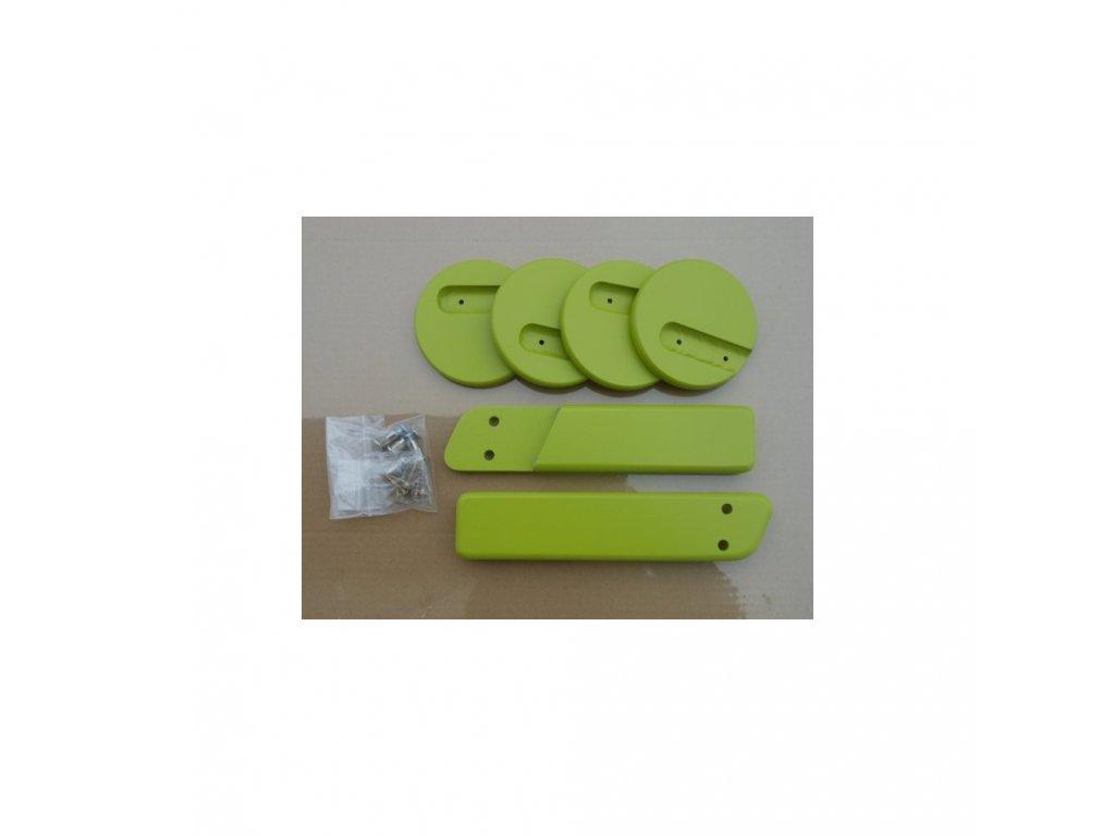 Jitro Komplet područky + stabilizační botičky k židlím Jitro  světle zelená