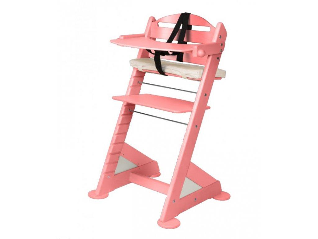 Komplet pultík + stabilizační botičky k židlím Jitro Baby růžový