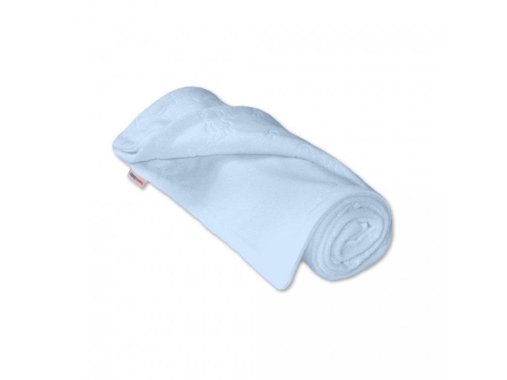 Dětská deka microfleece/bavlna modrá