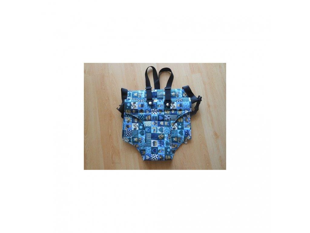 Jitro Vatelínové kalhotky  modrý patchwork starší typ