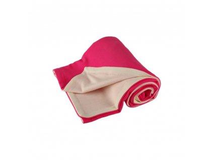 Kaarsgaren dětská merino deka růžová