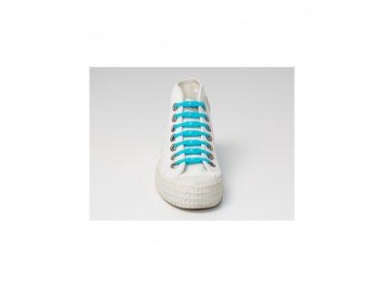 Shoeps Silikonové tkaničky  Aqua Blue