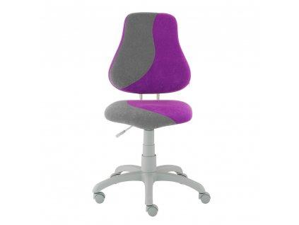 Dětská rostoucí židle Alba Fuxo S-line šedá-fialová