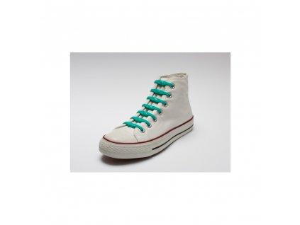 Shoeps Silikonové tkaničky Green Sea