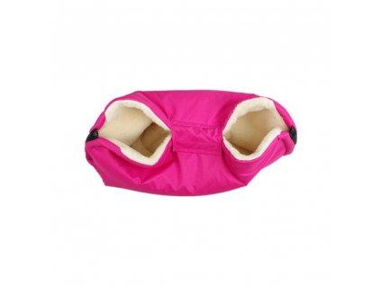 Kaarsgaren merino rukávník růžový z ovčí vlny