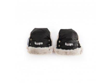 Zopa zimní rukavice Fluffy černá