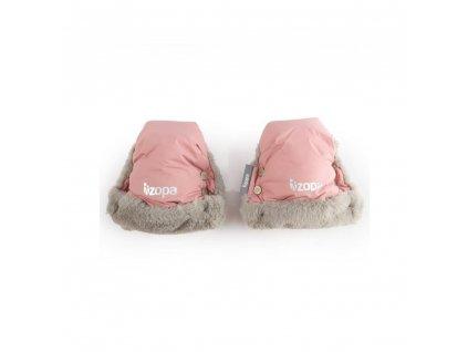 Zopa zimní rukavice Fluffy Old Pink