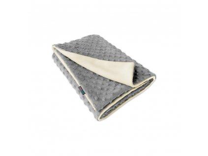 Ivemababy deka Minky/Fleece přírodní