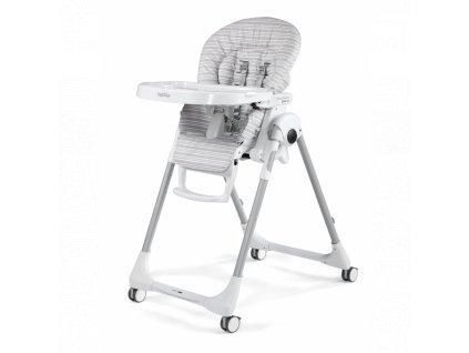 Peg Pérego jídelní židlička Prima Pappa Follow Me Linear Grey