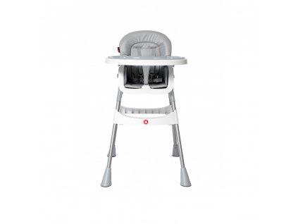 Topmark jídelní židlička Jess  vysoká stříbrná