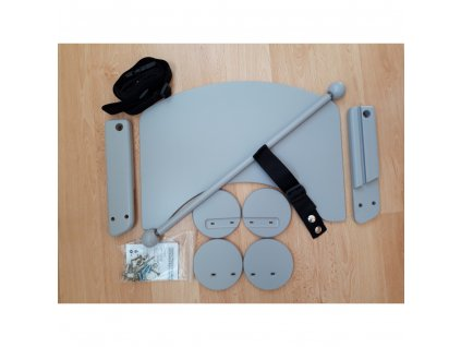 Komplet pultík + stabilizační botičky k židlím Jitro Baby šedý