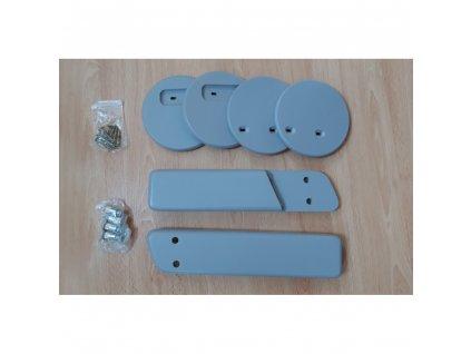 Jitro Komplet područky + stabilizační botičky k židlím Jitro Klasik šedá