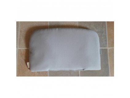 Polštářek bavlna/fleece světle šedý