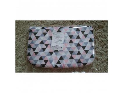 Polštářek bavlna/fleece triangl růžový