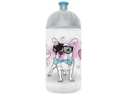 FreeWater lahev 0,5l Buldoček transparentní tyrkysová