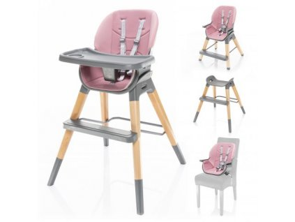 Dětská židlička Nuvio Blush Pink