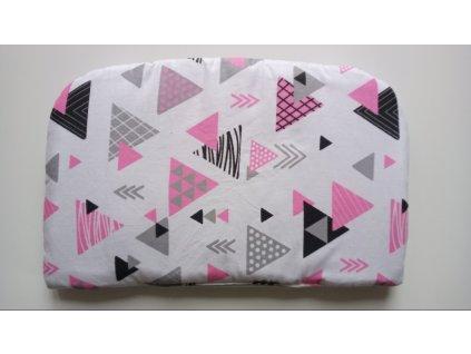 Polštářek bavlna/fleece růžovo šedý