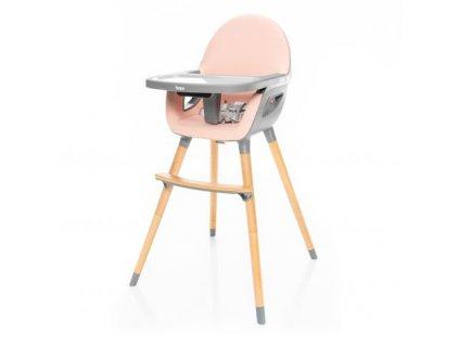 Zopa dětská židlička Dolce 2  Blush Pink/Grey