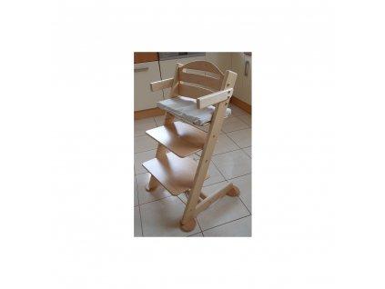 Jitro Stupínek k rostoucí židli  bezbarvý lak