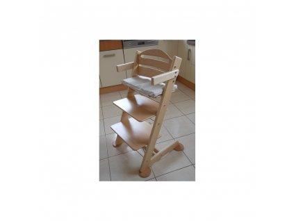 Jitro Komplet područky + stabilizační botičky k židlím Jitro Klasik přírodní lak