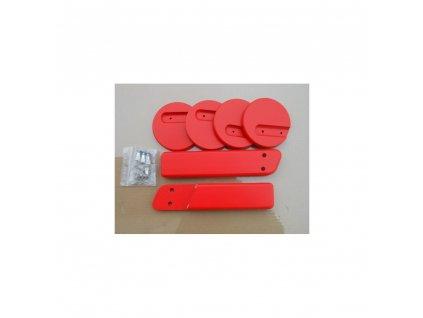 Jitro Komplet područky + stabilizační botičky k židlím Jitro  červená