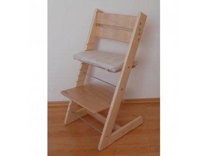 Jídelní židlička Jitro Klasik přírodní lakovaná