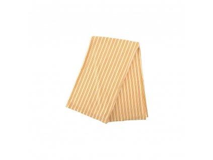 Deka letní bambusová oranžovo zelený proužek