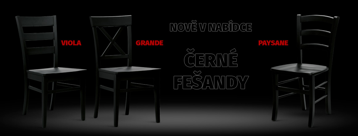 černé židle