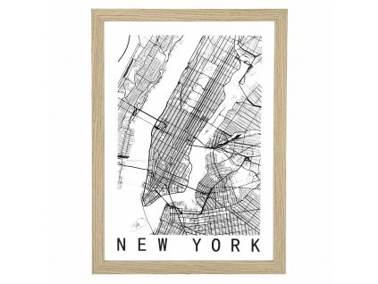 Obraz Mapa New York