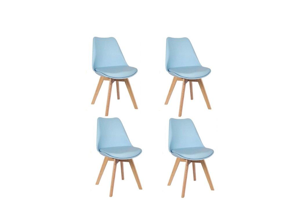 Jídelní židle PORTO - modrá (sada 4ks)