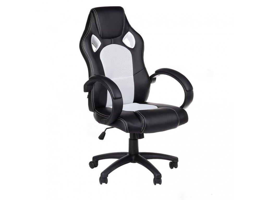 Kancelářská / Herní židle MONAKO - bílá