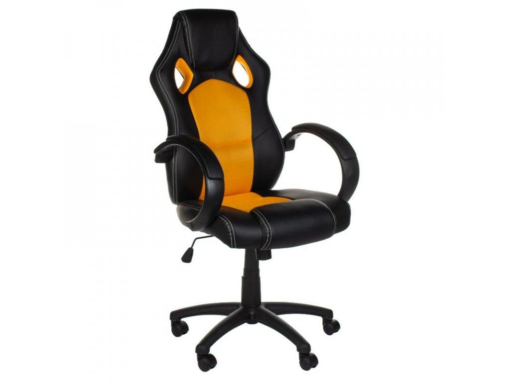 Kancelářská / Herní židle MONAKO - žlutá