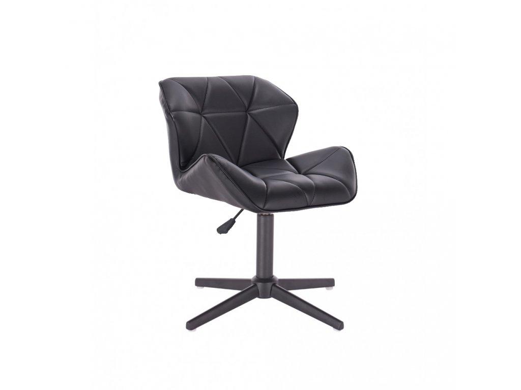 Kosmetická židle MILANO na černé čtyřramenné podstavě - černá