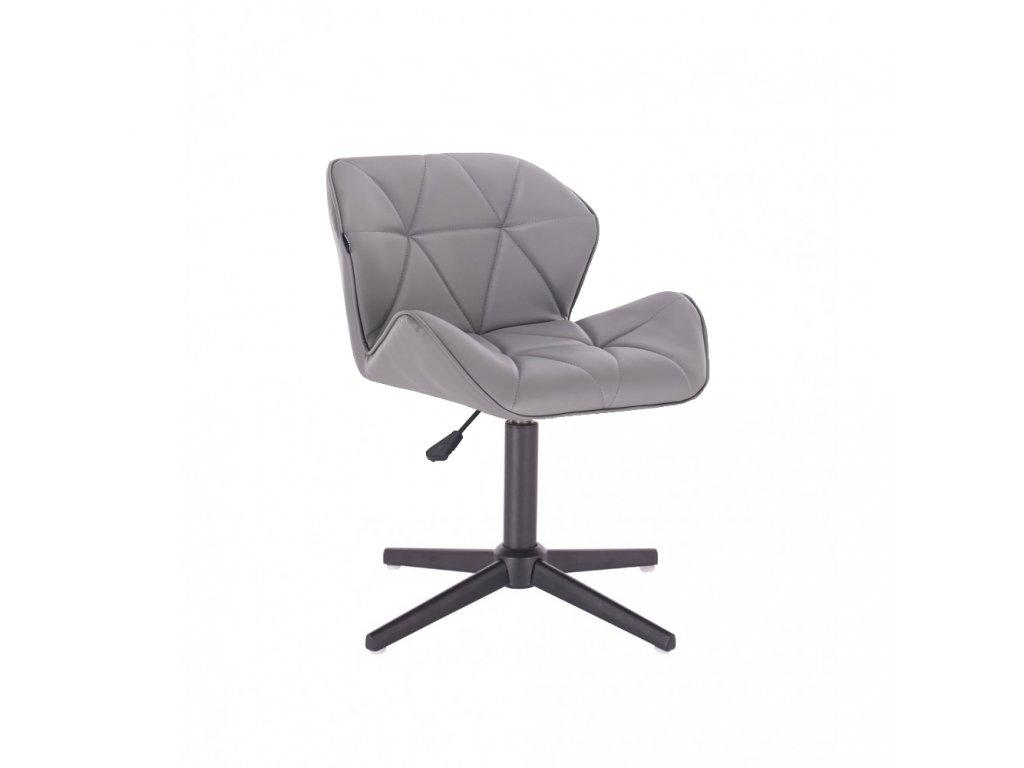 Kosmetická židle MILANO na černé čtyřramenné podstavě - šedá